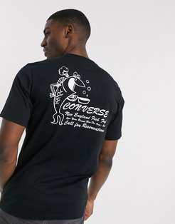 fish fry graphic t-shirt in black