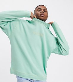 sweatshirt in green with tonal logo