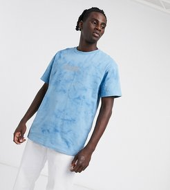 t shirt in blue wash with logo
