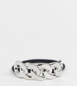 Exclusive hair tie in silver chain link