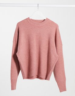 Lizzy knitted sweater in blush pink