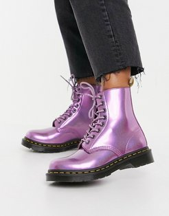Vegan 1460 classic ankle boots in pink prism