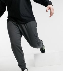 couture sweatpants with leg pocket-Grey