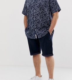 King Size chino short with stretch in navy