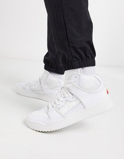 assist high top leather sneakers in white