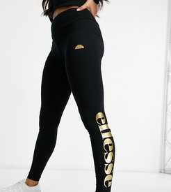 leggings in black and gold - exclusive to ASOS