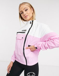 utility track jacket in pink