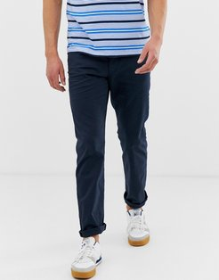 casual 5 pocket straight fit twill pants in navy