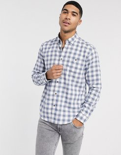 checked shirt in white