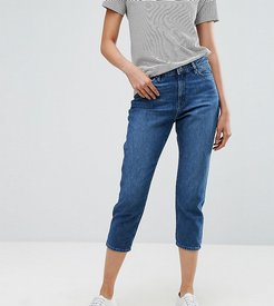 Cropped Mom Jeans-Blue