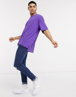 oversized boxy fit t-shirt in purple
