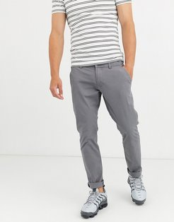 slim fit chino in gray-Grey