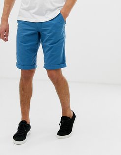 slim fit chino short in blue