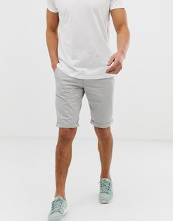 slim fit chino short in gray