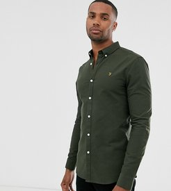 Brewer slim fit oxford shirt in green