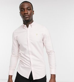 Brewer tall organic cotton slim fit oxford shirt in pink