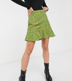 flippy skirt in ditsy floral-Green