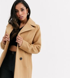 smart double breasted coat-Neutral