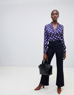 Barby flared tailored pants-Navy