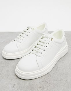 anouk leather lace up sneakers in cream