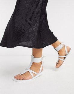 vacation day wrap sandals-White