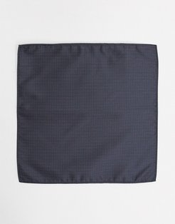 dotted pocket square-Navy