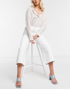 Reem Sustainable Denim Culottes in White