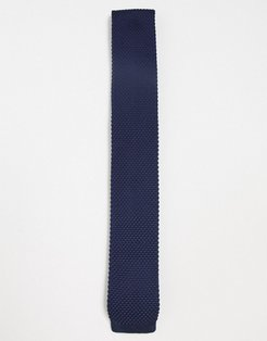 knitted tie-Navy