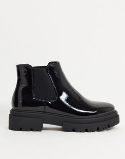 chunky chelsea boot in black