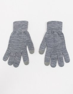 gloves with touch screen in gray