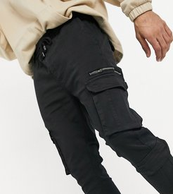 cargo pants with pockets in black exclusive at ASOS