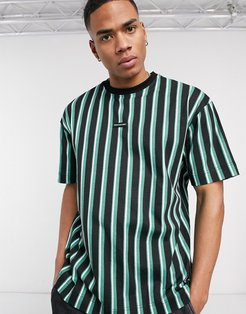 oversized striped t-shirt in green
