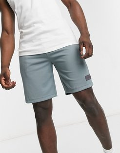Active recycled piquet sweat shorts in squall sea blue-Blues