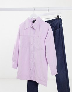 cord shirt in lilac-Purple