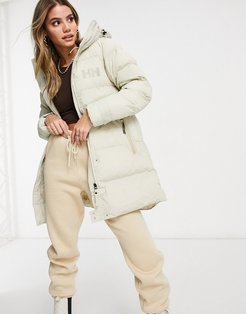 Adore puffer parka jacket in white