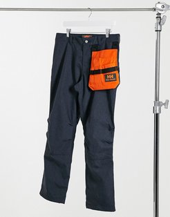 Heritage unisex zip-off pants in navy denim