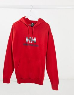 Urban graphic hoody in red