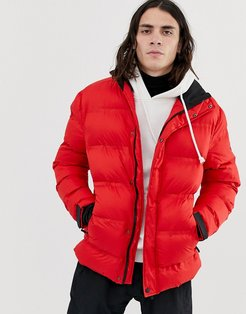 ski puffer jacket in red