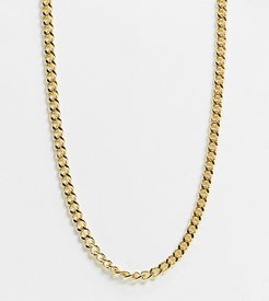 chunky chain necklace in gold plate