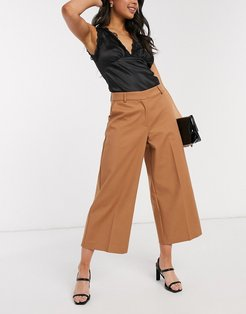 oversized culottes-Brown