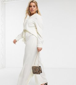 exclusive relaxed wide leg pants in cream