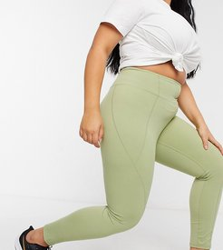 x Courtney Black activewear panelled legging in olive-Green