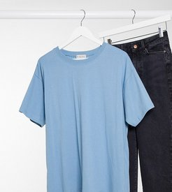 x Shaughna oversized t shirt in blue