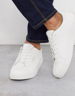 classic faux leather sneaker in white