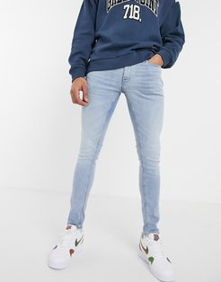 Intelligence skinny fit jeans in light blue