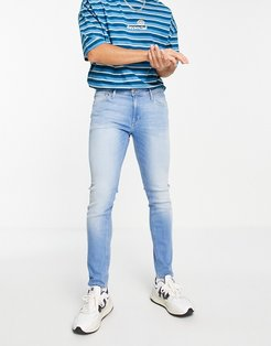 Intelligence skinny fit stretch jeans in light blue