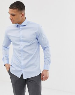 Premium stretch smart shirt in light blue