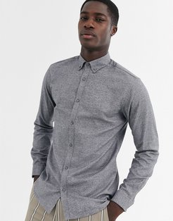 Premium textured shirt in light gray