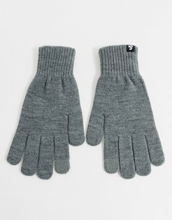 touch screen gloves in gray