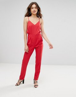 Kloss Cut Out Jumpsuit-Red